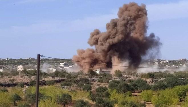 Rus savaş uçakları, İdlib'de Suriye Milli Ordusu güçlerini vurdu