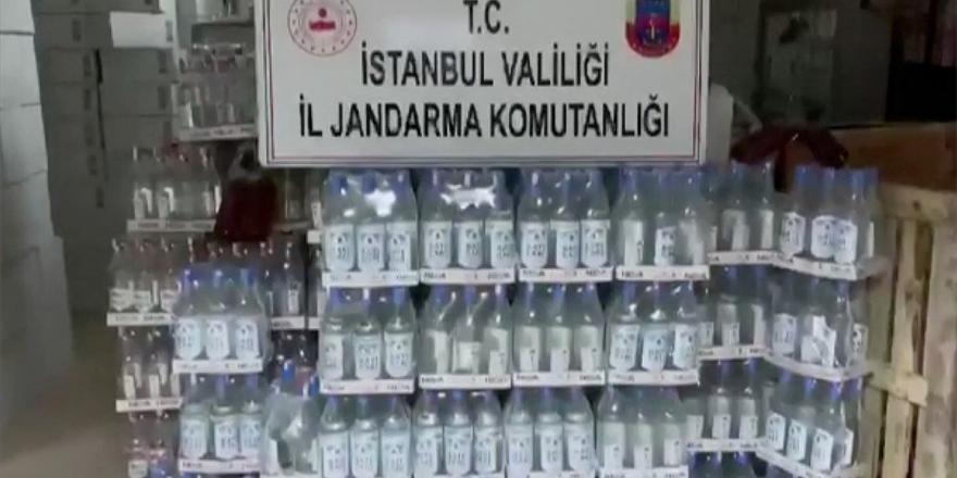 İstanbul'da 1500 Litre Sahte İçki Ele Geçirildi