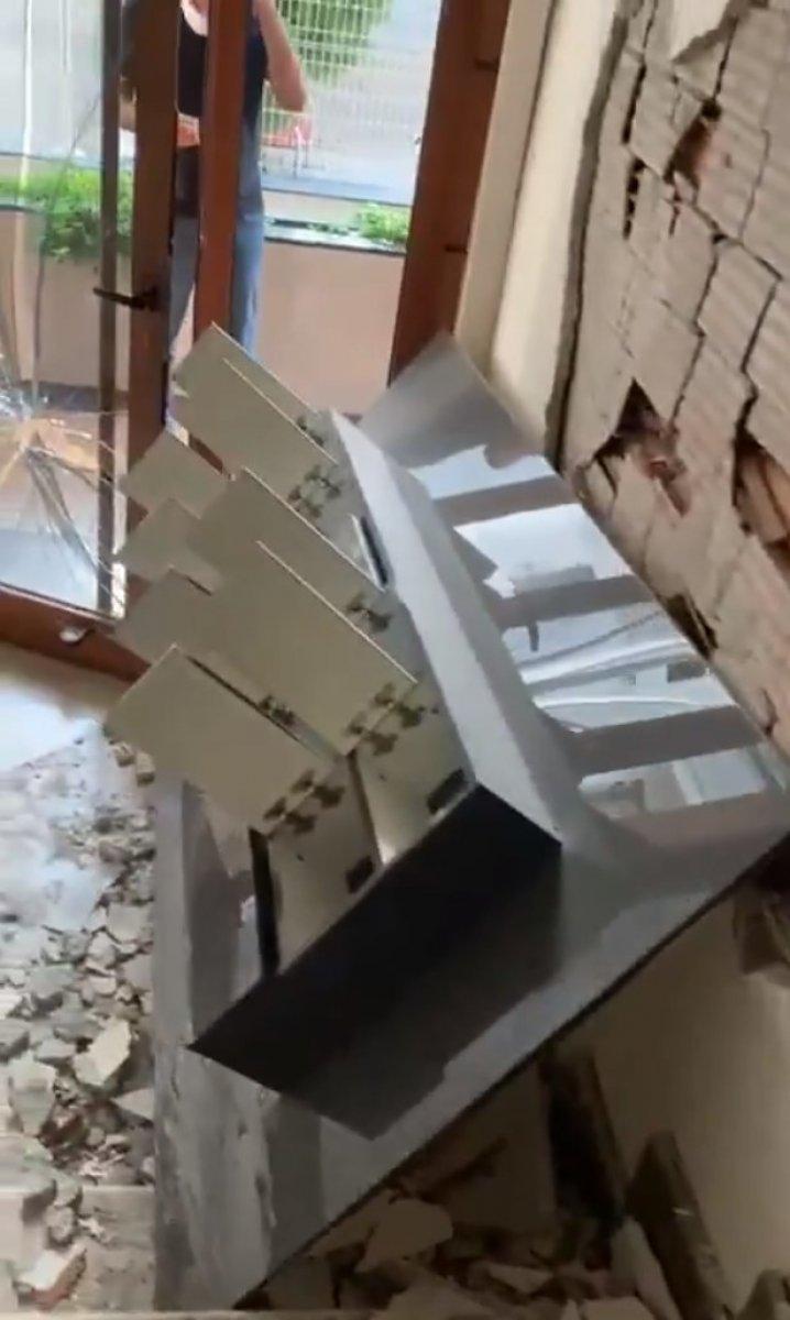 İzmir'de milyonluk dairelerin satıldığı rezidansta büyük hasar