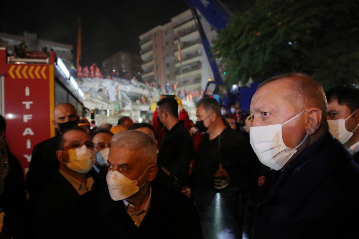 Cumhurbaşkanı Erdoğan, deprem bölgesinde inceleme yaptı