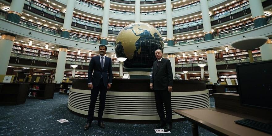 Cumhurbaşkanı Erdoğan, Katar Emiri Al Sani İle Millet Kütüphanesi'ni Gezdi