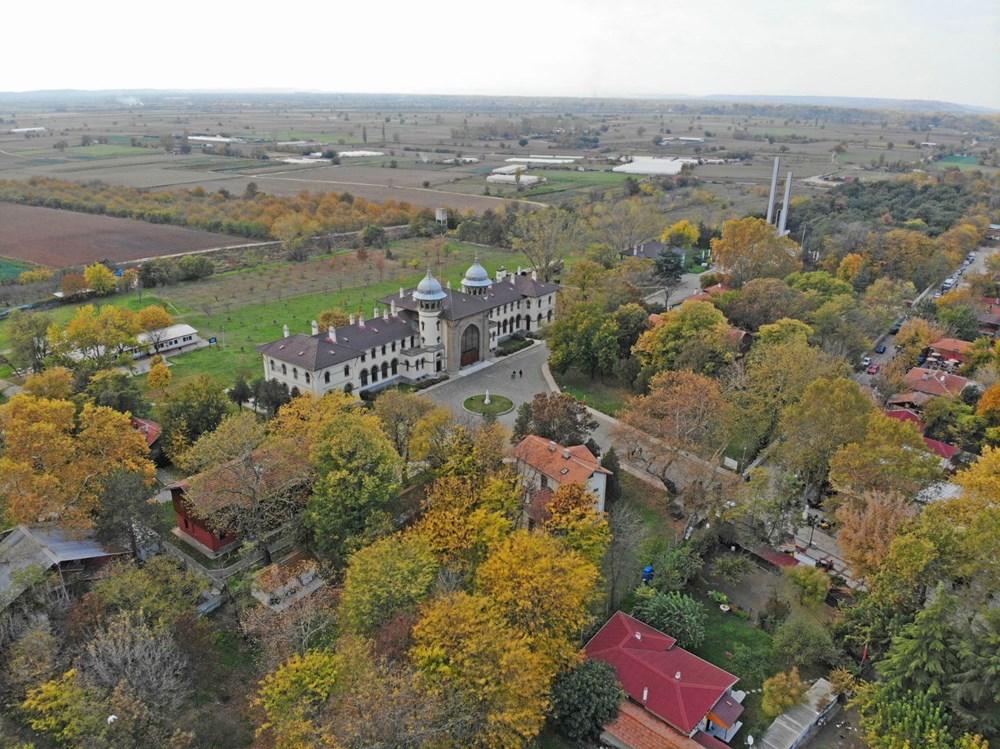 Edirne'de eski tren garı ve kara tren, sonbaharda fotoğraf tutkunlarının gözdesi