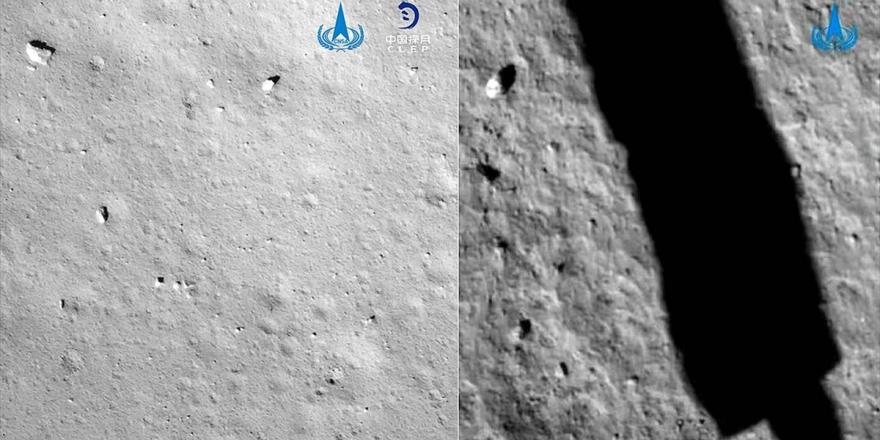 Çin'in Ay'a İnen Uzay Aracı Örnek Toplama İşlemini Başarıyla Gerçekleştirdi