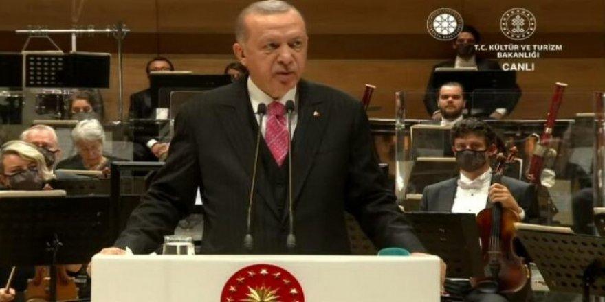 Erdoğan: Türkiye Bizim Dönemimizde Kültür ve Sanatta da Prangalarından Kurtulmuştur
