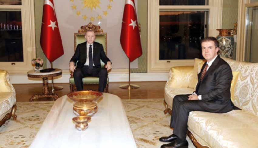 Cumhurbaşkanı Erdoğan, Ahmet Mücahid Ören'i Vahdettin Köşkü'nde kabul etti