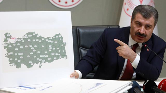 Sağlık Bakanı Koca, haritayla paylaştı!