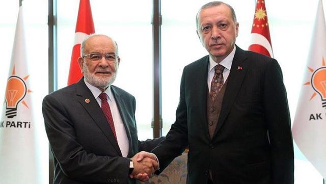 Erdoğan'ın peş peşe görüşme yaptığı Saadet Partisi'nden ittifaka şartlı yeşil ışık