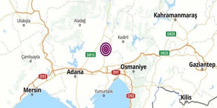 Adana'da deprem oldu!
