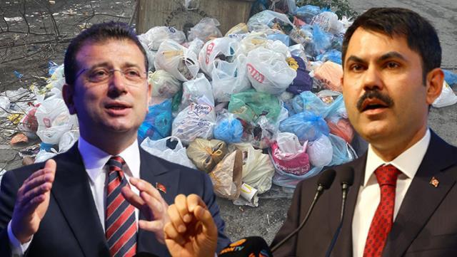 İBB'nin yardım etmeyi reddettiği çöp dağları krizine hükümet el atıyor! Bakan Kurum, talimat verdi