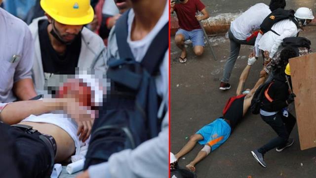 Ordunun yönetime el koyduğu Myanmar'da gerilim tırmanıyor! Sokaklar cansız bedenlerle dolup taştı