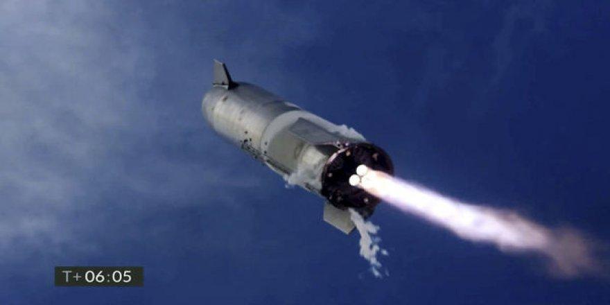 SpaceX'in Mars projesi Starship, deneme uçuşu sonrası infilak etti