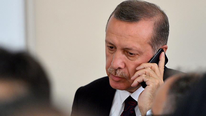 Cumhurbaşkanı Erdoğan'dan, Korgeneral Erbaş'ın oğluna taziye telefonu