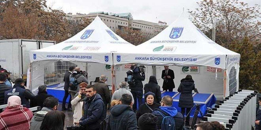 Ankara'da ilk tanzim satış çadırı kuruldu: Kilo kotası var