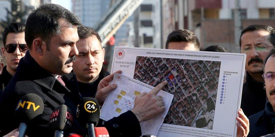 Bakan Kurum açıkladı: Kartal'daki 8 riskli bina yıkılacak