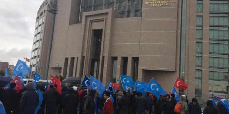 """Çağlayan'da """"Doğu Türkistanlı lider Abdulkadir Yapçan iade edilmesin"""" Eylemi"""