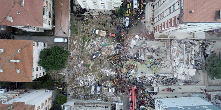 Kartal'da çöken binayla ilgili 3 kişi gözaltına alındı