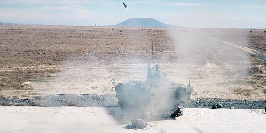 OMTAS füzesiyle yapılan ilk atışta hedef başarıyla vuruldu