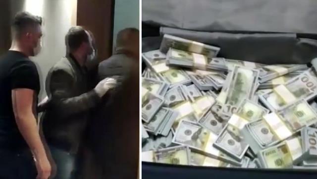 Baskın düzenlenen evden valizlere gizlenmiş 4 milyon sahte dolar çıktı