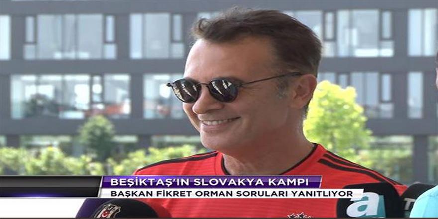 """Beşiktaş Başkanı Orman, """"şampiyon olacağız"""""""