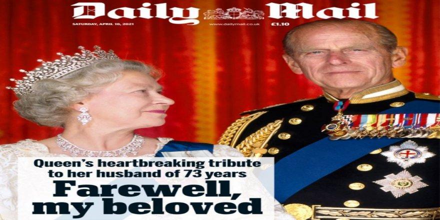 Prens Philip'in ölümü İngiliz basınında