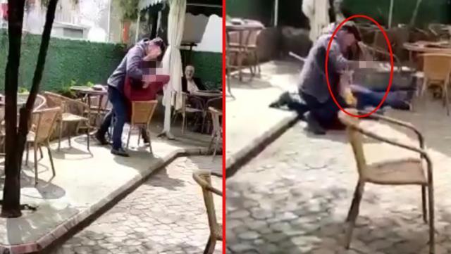 Uygunsuz mesaj atarak karısını taciz eden şahsı defalarca böyle bıçakladı