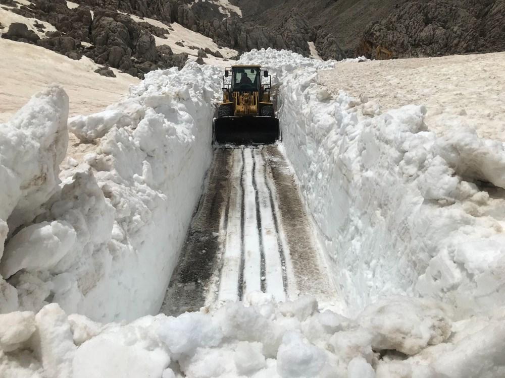 Antalya'da Mayıs ayında karla mücadele!