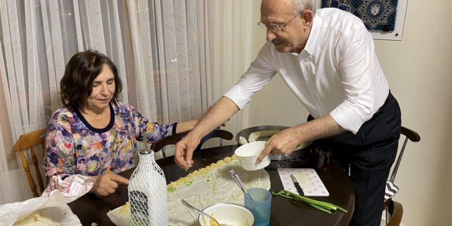 Kılıçdaroğlu, mutfağından bayram hazırlığını paylaştı