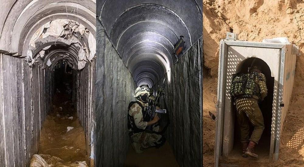 Hamas'ın Gazze'de kullandığı tüneller görüntülendi: İsrail'in hedefinde