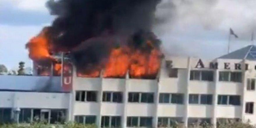 KKTC'de üniversite binasında korkutan yangın