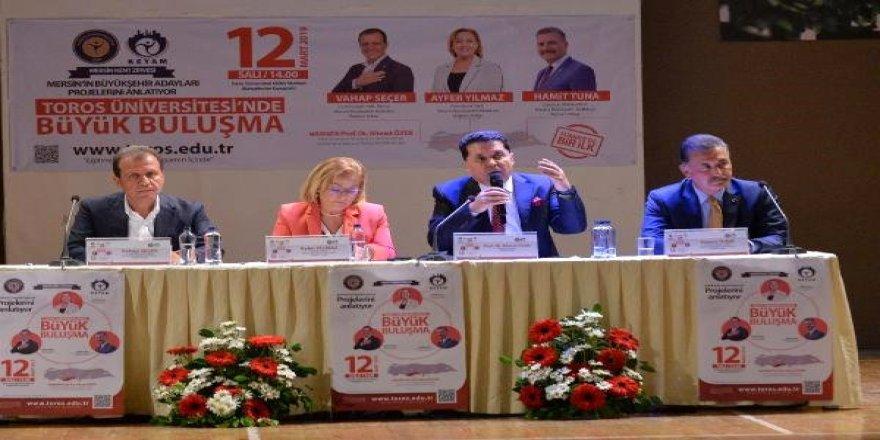Mersin adayları bir araya gelip projelerini anlattı