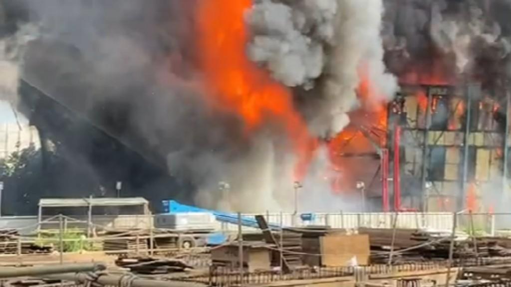 Dünyanın 4'üncü Büyük Kömürlü Santralinde Yangın