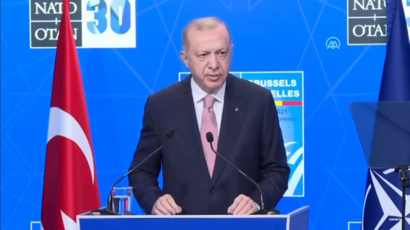 Cumhurbaşkanı Erdoğan, Biden ile ikili görüşmesinin ardından açıklamalarda bulunuyor
