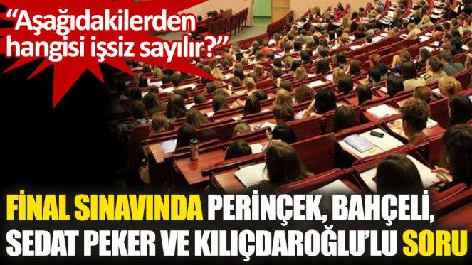 """Final sınavında Perinçek, Bahçeli, Sedat Peker ve Kılıçdaroğlu için """"işsiz"""" benzetmesi"""