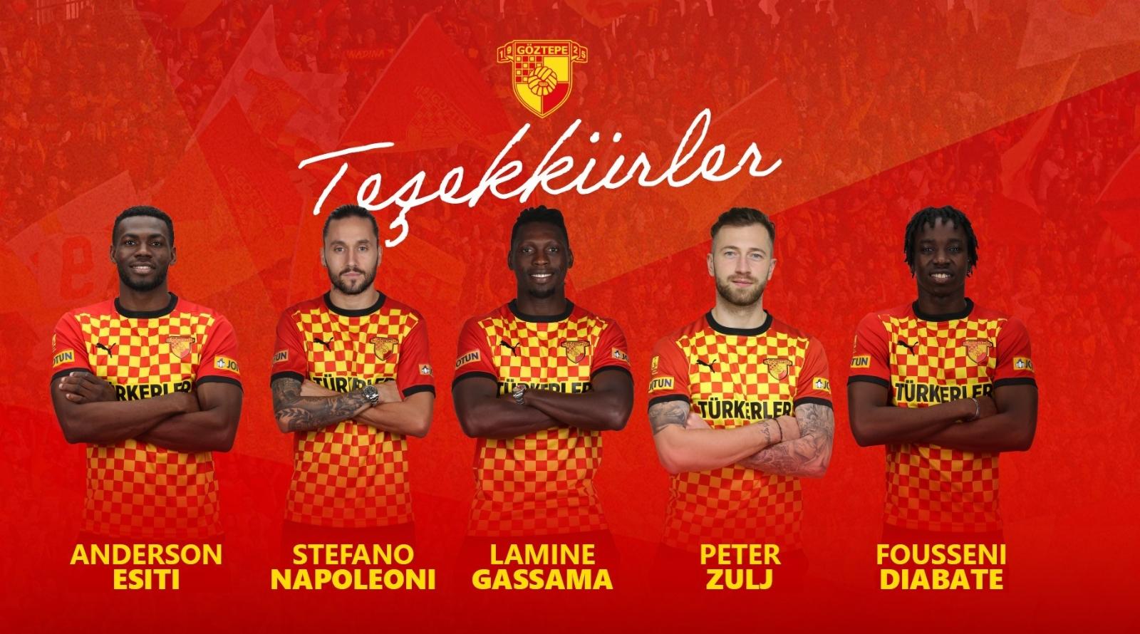 Göztepe 5 futbolcuyla yollarını ayırdı