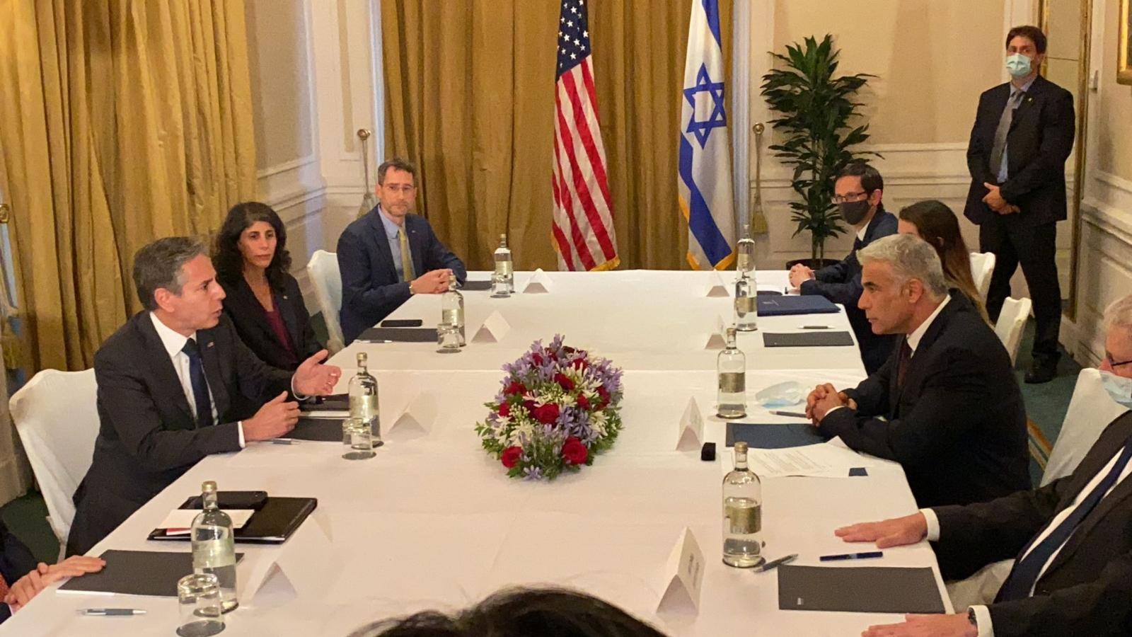 ABD Dışişleri Bakanı Blinken, İsrailli Mevkidaşı Lapid İle Bir Araya Geldi