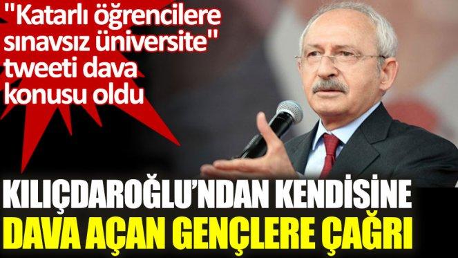 Kılıçdaroğlu'ndan kendisine dava açan AKP'li gençlere çağrı