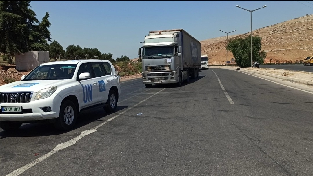 BM'den İdlib'e 46 Tır İnsani Yardım