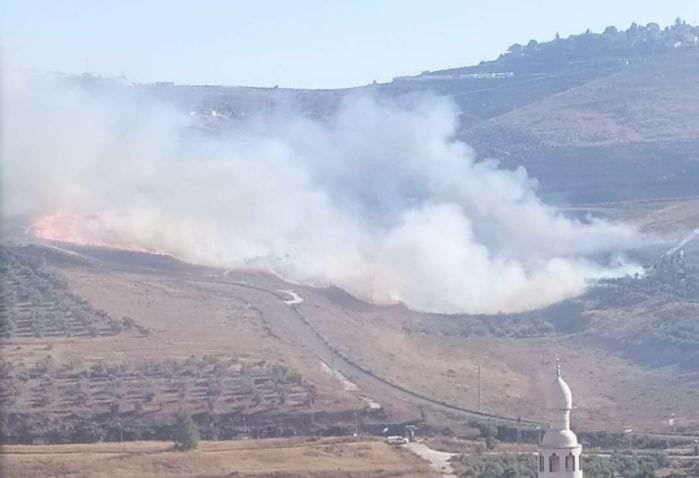 Yahudi yerleşimciler, Batı Şeria'da Filistinlilere ait tarım arazisini ateşe verdi
