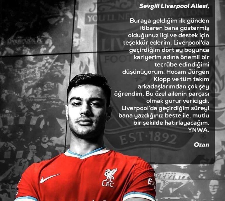 Ozan Kabak'tan Liverpool'a veda
