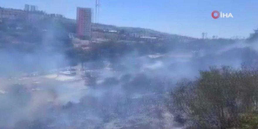 İsrail'de yerleşim yerleri yakınında büyük yangın