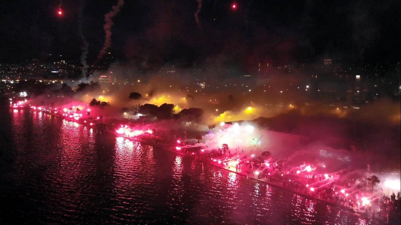 Samsunspor'dan Meşaleli 56. Yıl Kutlaması
