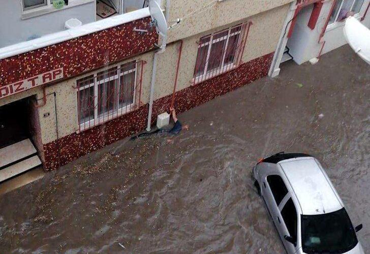 Edirne'de dolu ve sağanak!