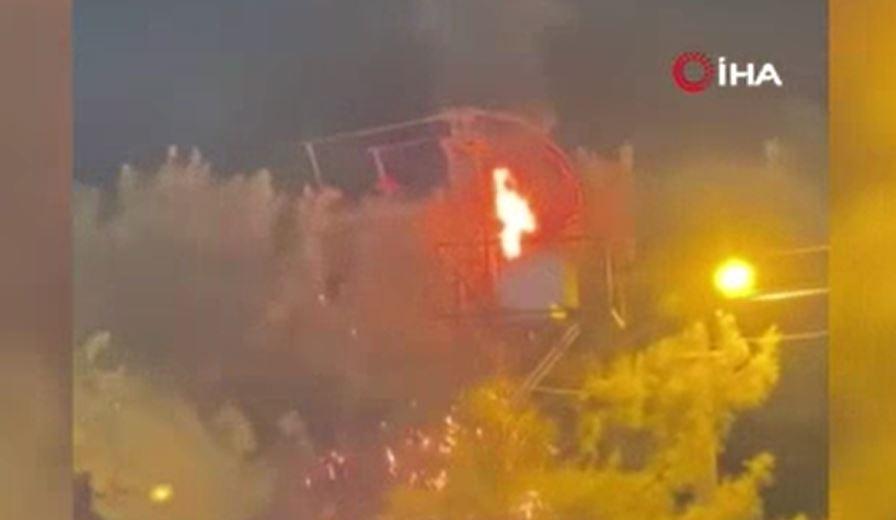 Elektrik Trafosu Bomba Gibi Patladı