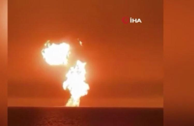 Hazar Denizi'nde şiddetli patlama