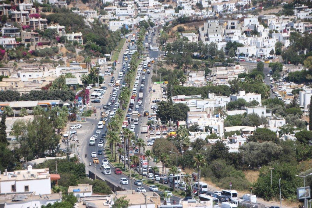 Bodrum'da Trafik Kaosu Yaşanıyor