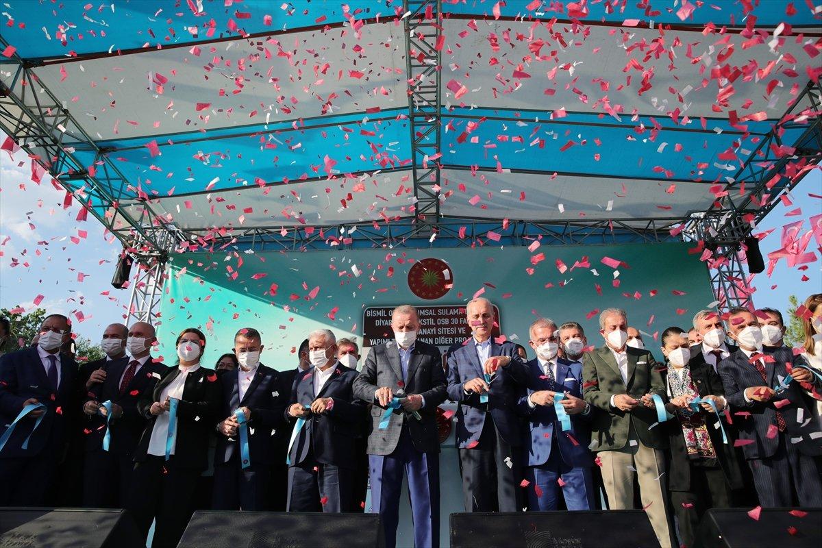 Cumhurbaşkanı Erdoğan, Diyarbakır'da açılış törenine katıldı