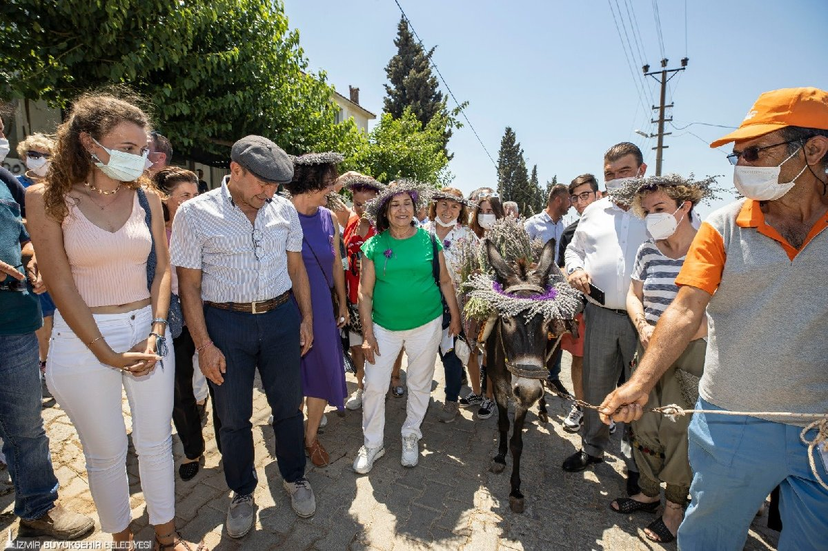 Yılın ilk lavanta hasadını Soyer ve Selvi Kılıçdaroğlu yaptı