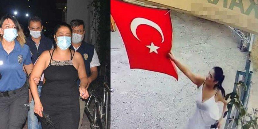 Türk bayrağını çöpe atan İranlı kadından pişkin savunma