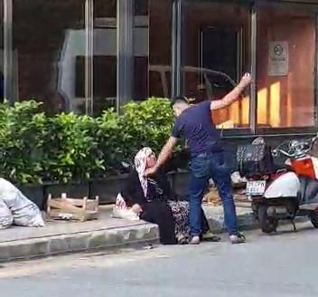 Sokak Ortasında Annesini Darp Ettiği Anlar Kamerada
