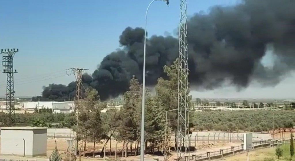 Suriye Sınırındaki Çadırkentte Yangın